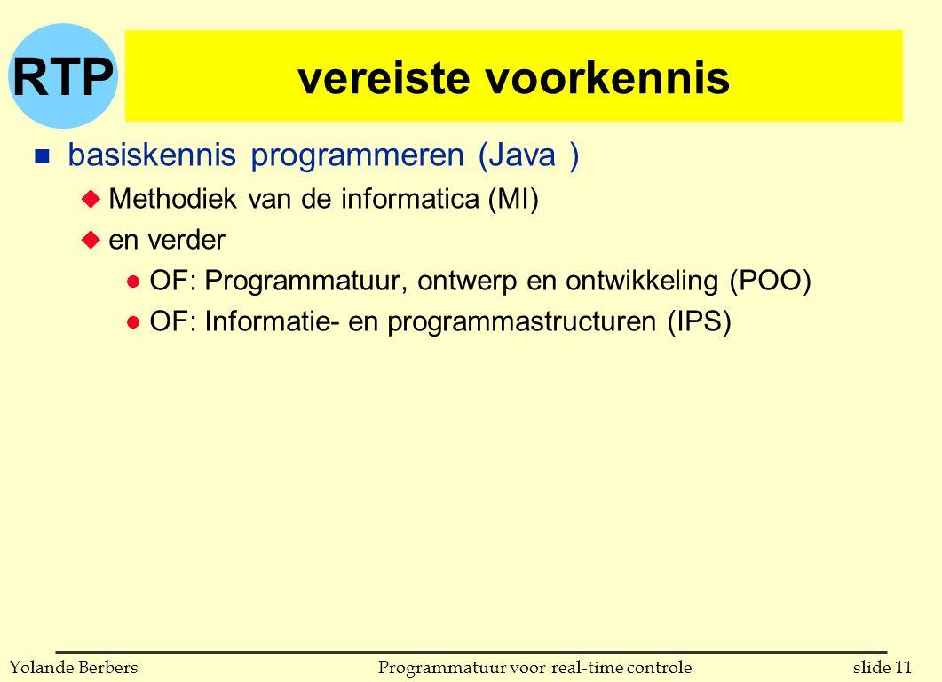 vereiste voorkennis basiskennis programmeren (Java )