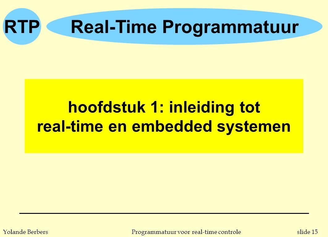 hoofdstuk 1: inleiding tot real-time en embedded systemen