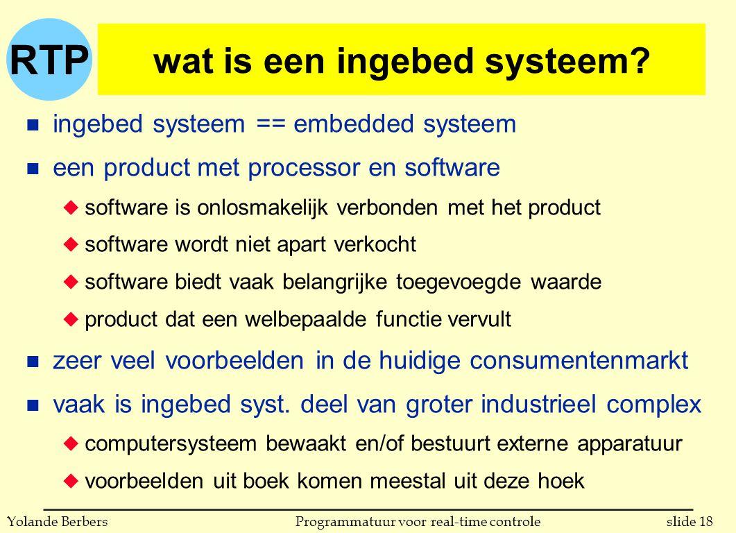 wat is een ingebed systeem