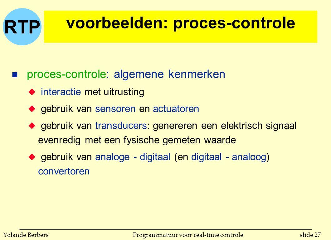 voorbeelden: proces-controle