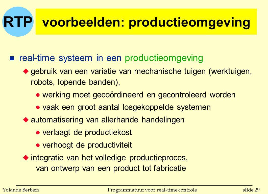 voorbeelden: productieomgeving