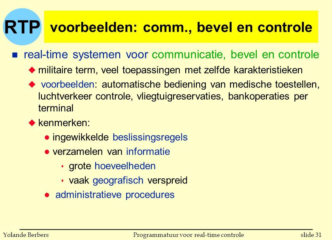 voorbeelden: comm., bevel en controle
