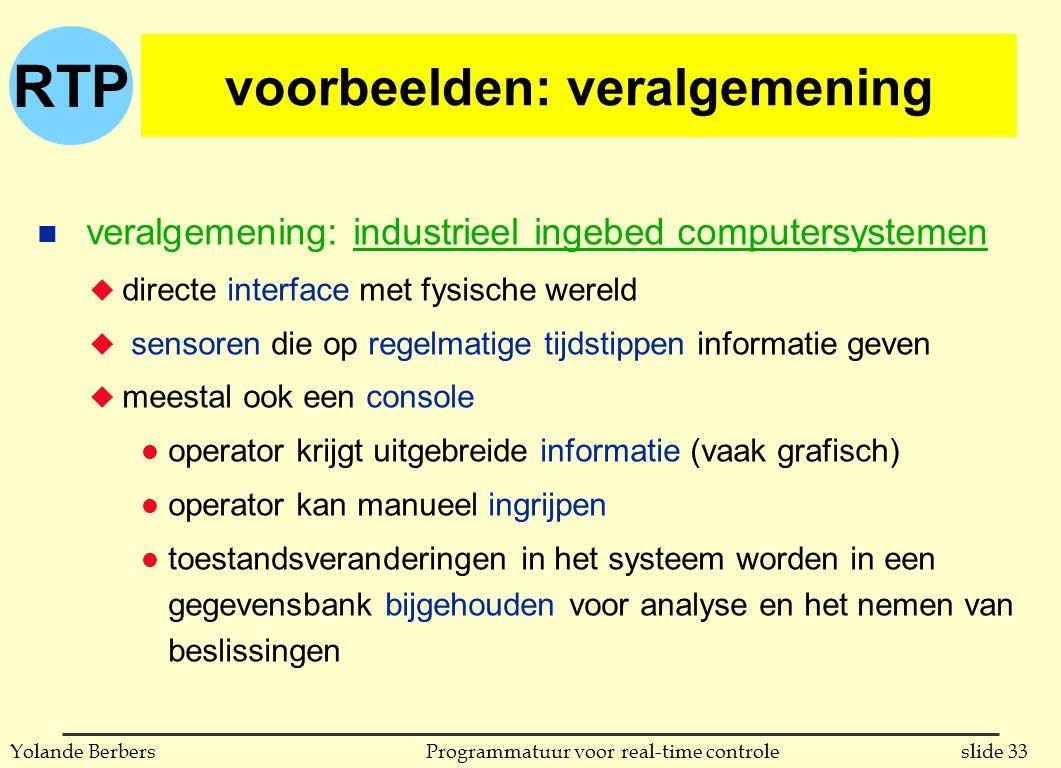 voorbeelden: veralgemening