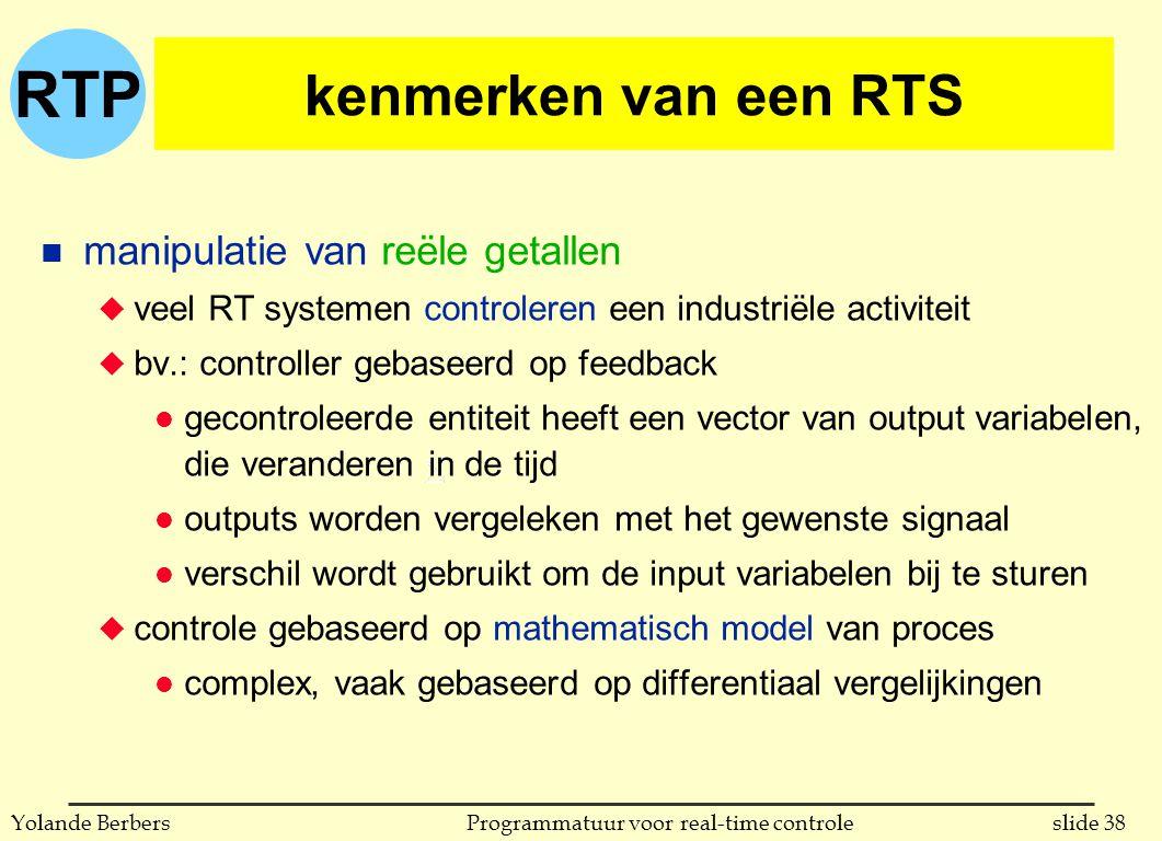 kenmerken van een RTS manipulatie van reële getallen