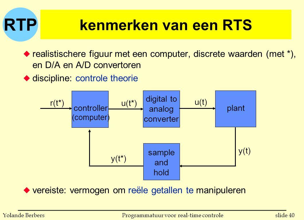 kenmerken van een RTS realistischere figuur met een computer, discrete waarden (met *), en D/A en A/D convertoren.