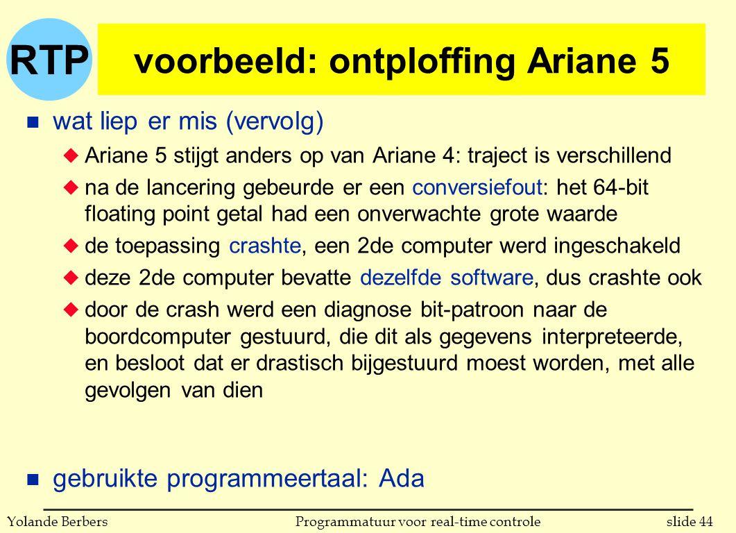 voorbeeld: ontploffing Ariane 5