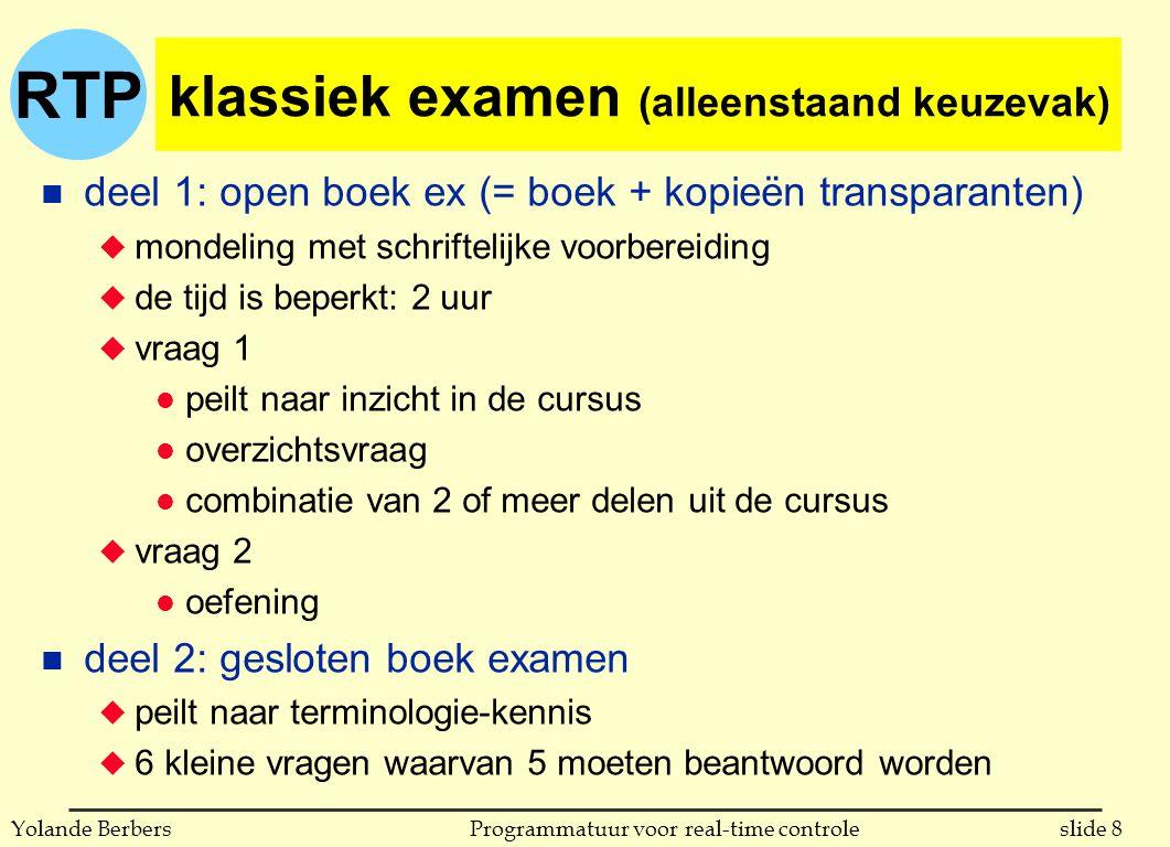 klassiek examen (alleenstaand keuzevak)
