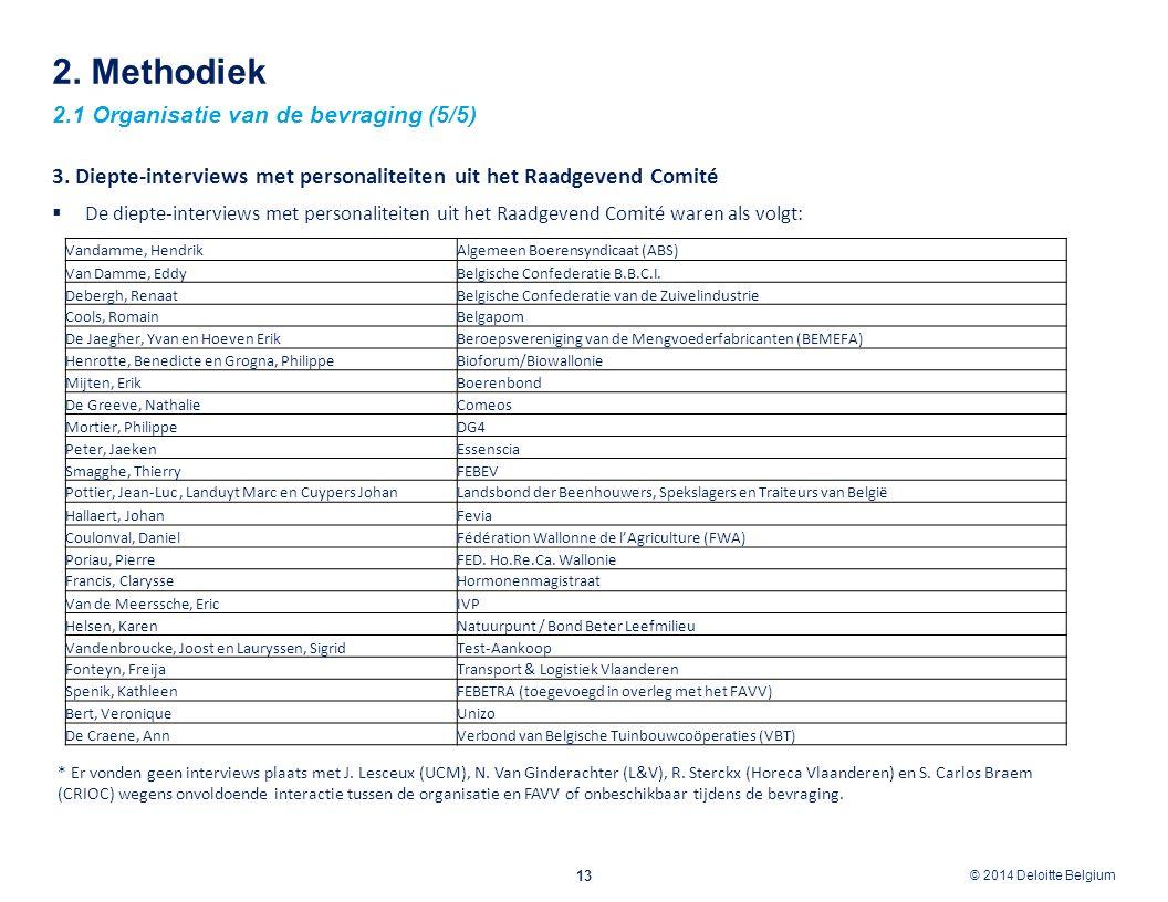 2. Methodiek 2.1 Organisatie van de bevraging (5/5)
