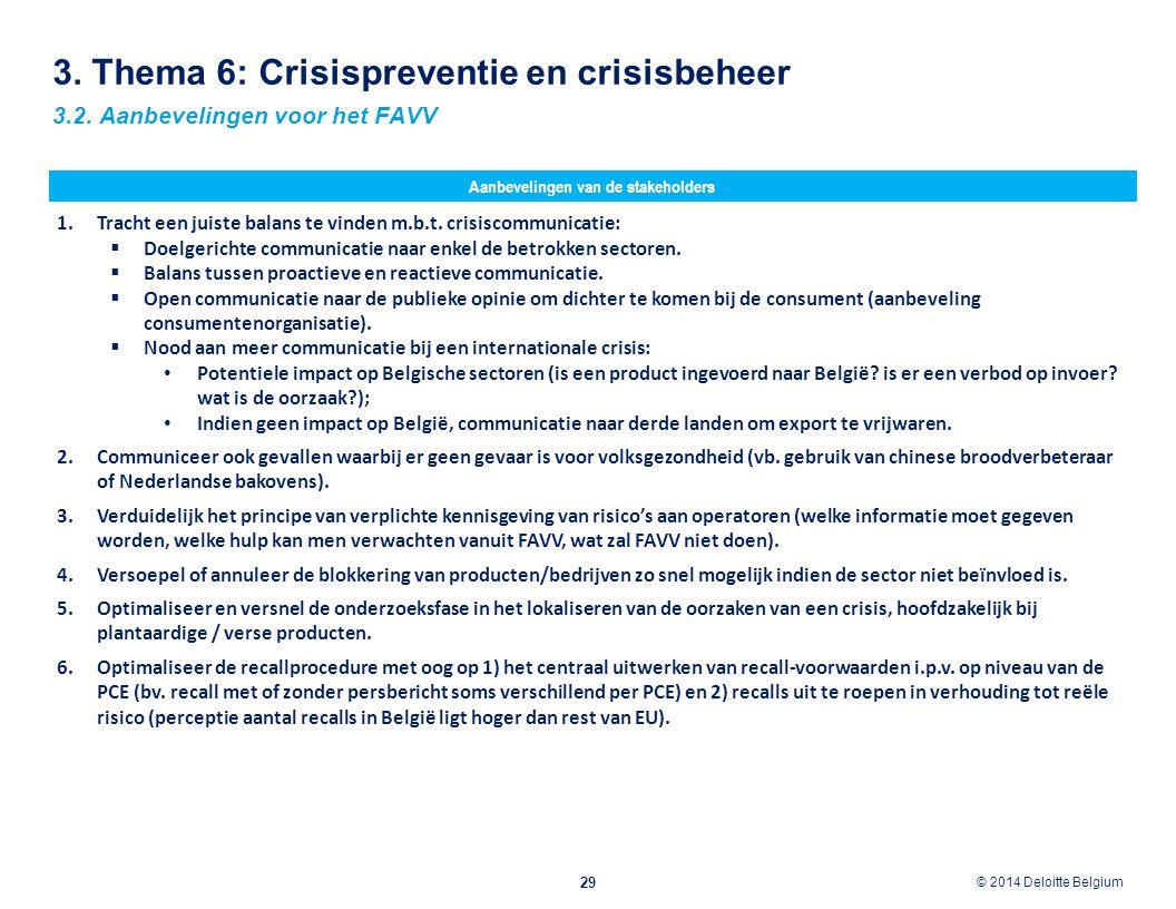 3. Thema 6: Crisispreventie en crisisbeheer
