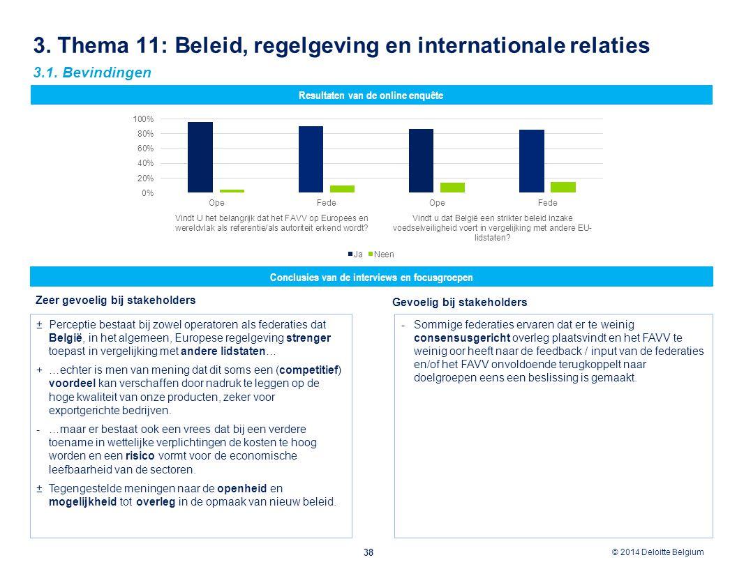3. Thema 11: Beleid, regelgeving en internationale relaties