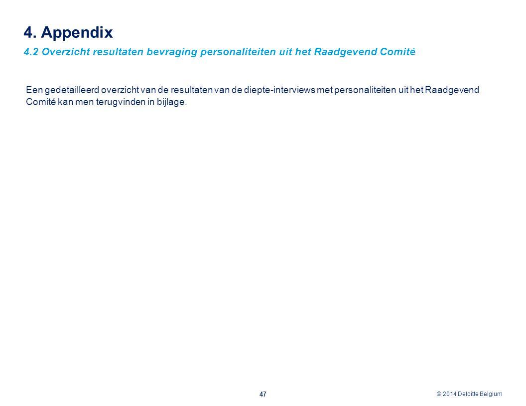 4. Appendix 4.2 Overzicht resultaten bevraging personaliteiten uit het Raadgevend Comité.
