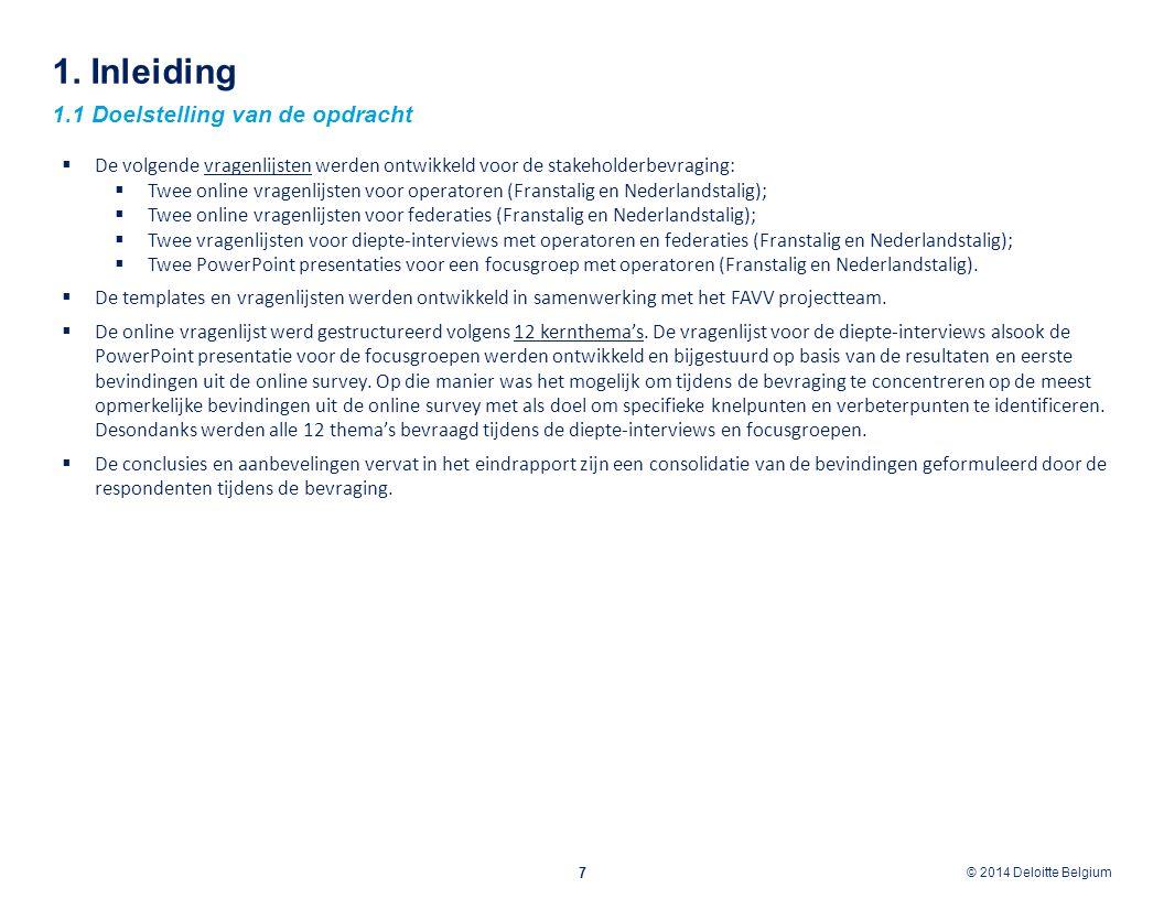 1. Inleiding 1.1 Doelstelling van de opdracht