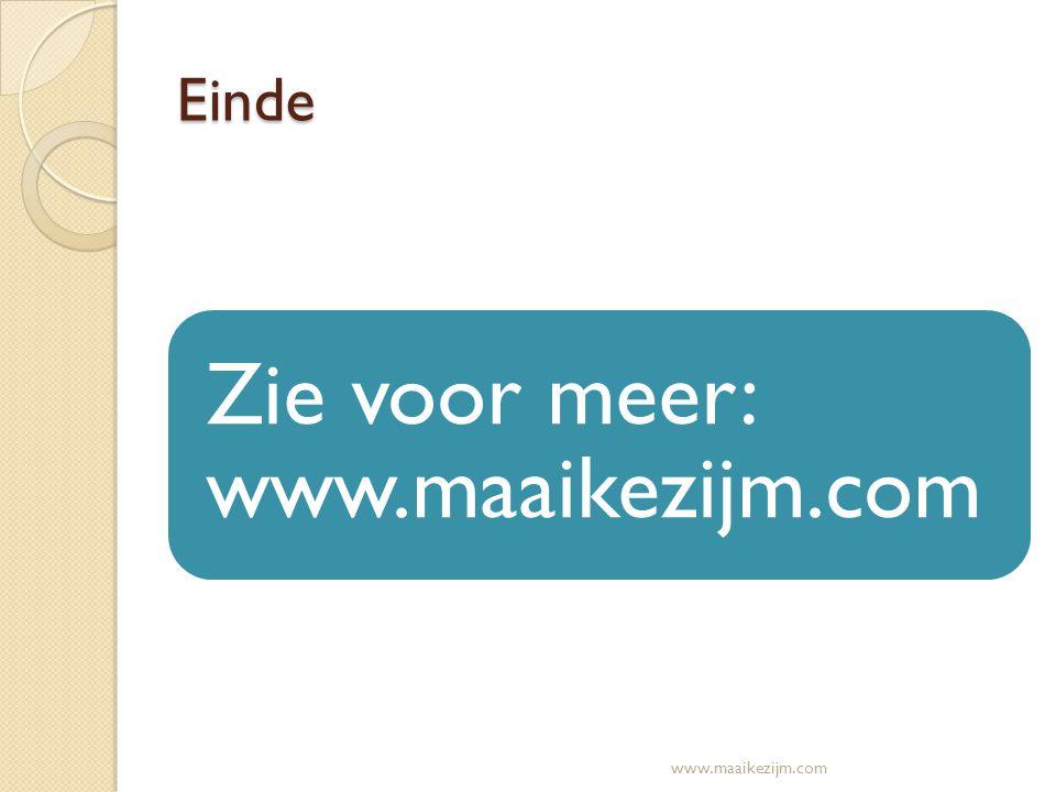 Zie voor meer: www.maaikezijm.com