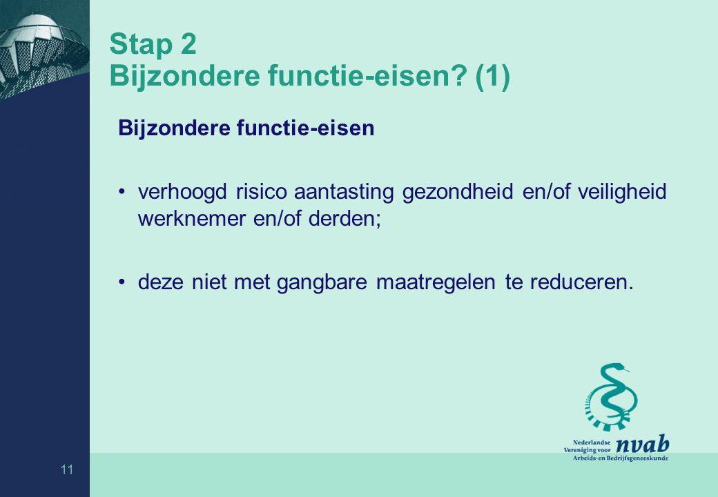 Stap 2 Bijzondere functie-eisen (1)