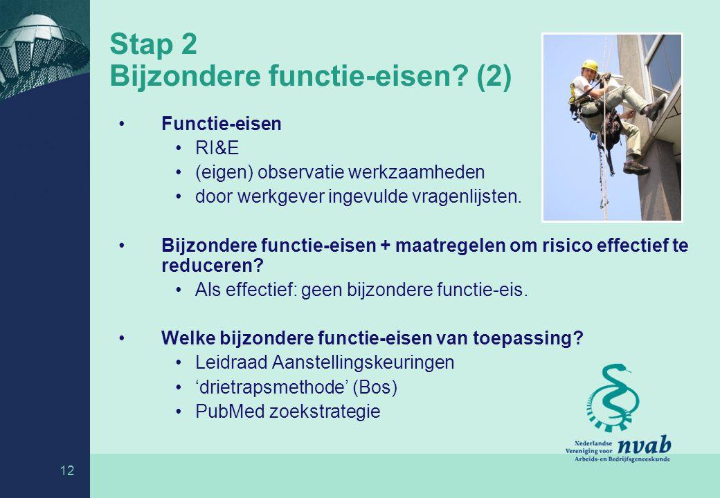 Stap 2 Bijzondere functie-eisen (2)