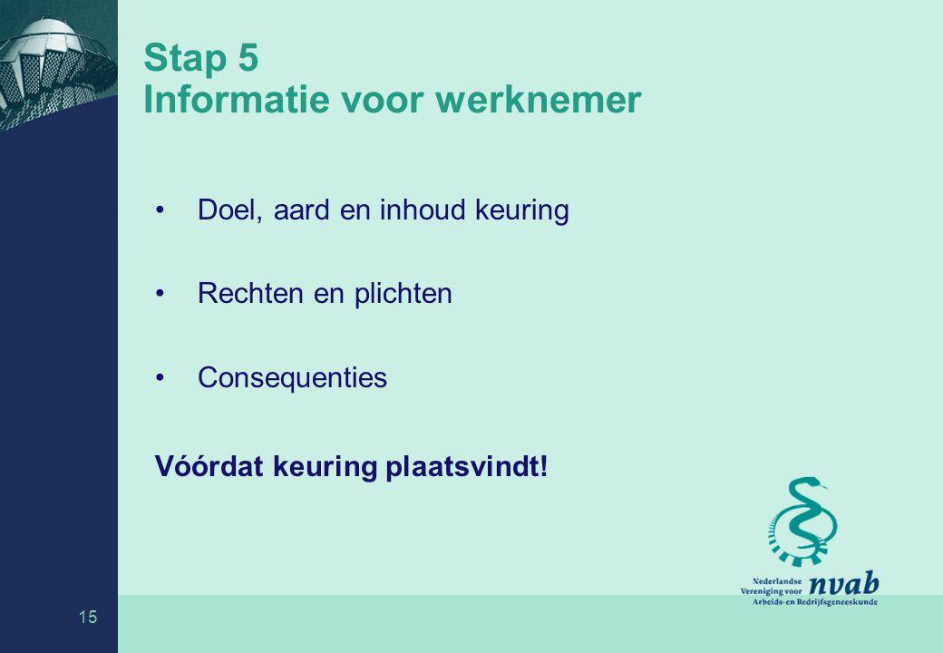Stap 5 Informatie voor werknemer
