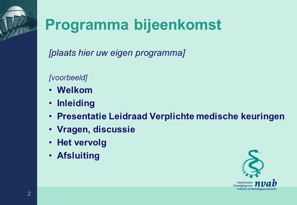 Programma bijeenkomst