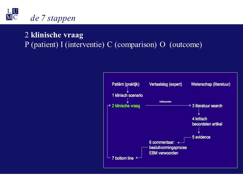 de 7 stappen 2 klinische vraag