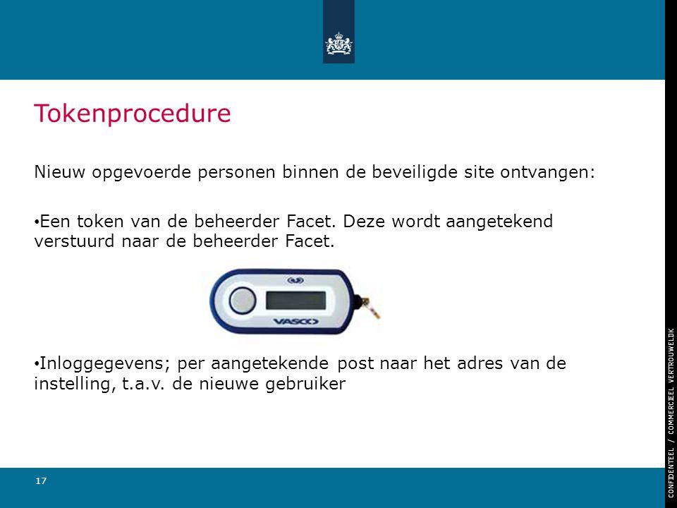 Tokenprocedure Nieuw opgevoerde personen binnen de beveiligde site ontvangen: