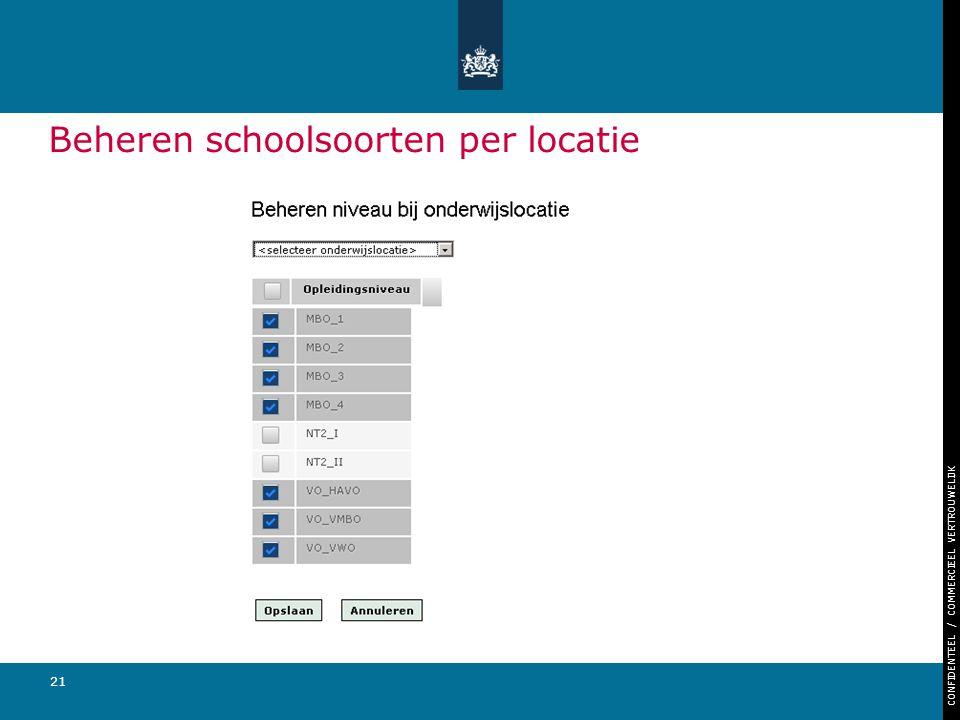 Beheren schoolsoorten per locatie