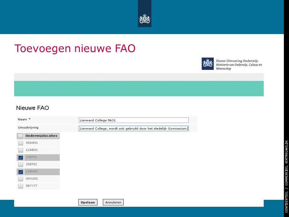Toevoegen nieuwe FAO