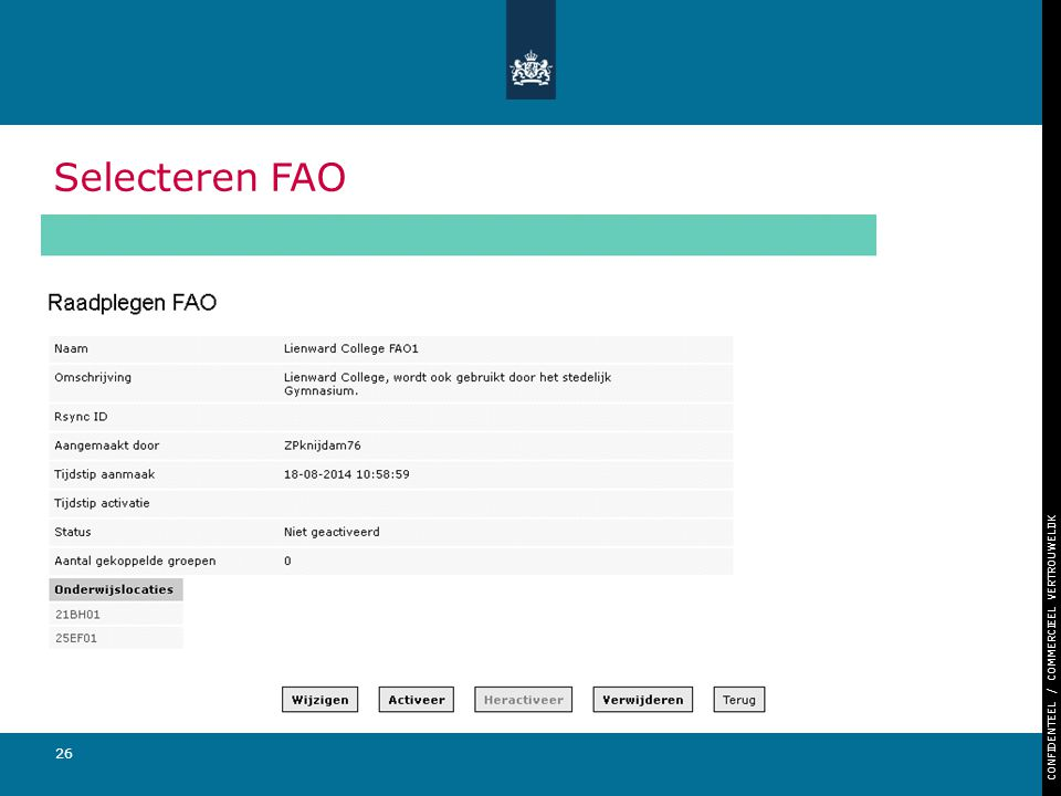 Selecteren FAO