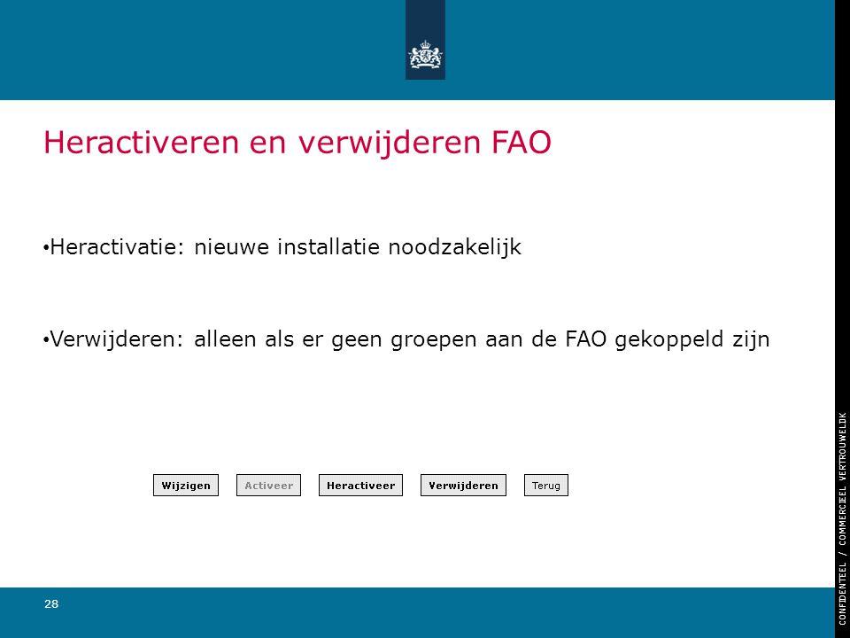 Heractiveren en verwijderen FAO