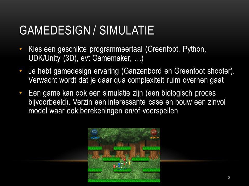 Gamedesign / Simulatie