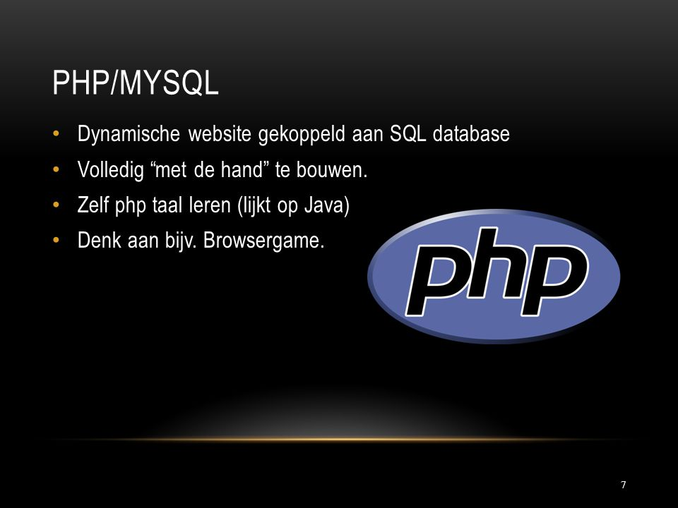 Php/Mysql Dynamische website gekoppeld aan SQL database