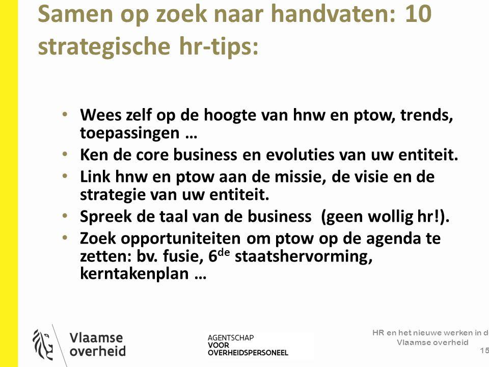 Samen op zoek naar handvaten: 10 strategische hr-tips:
