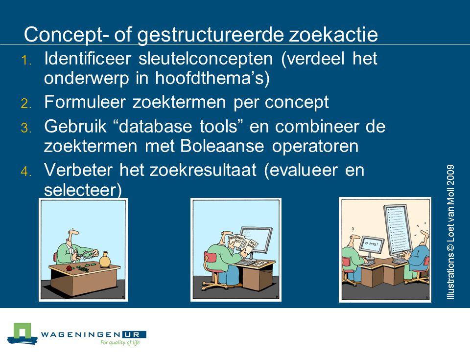 Concept- of gestructureerde zoekactie