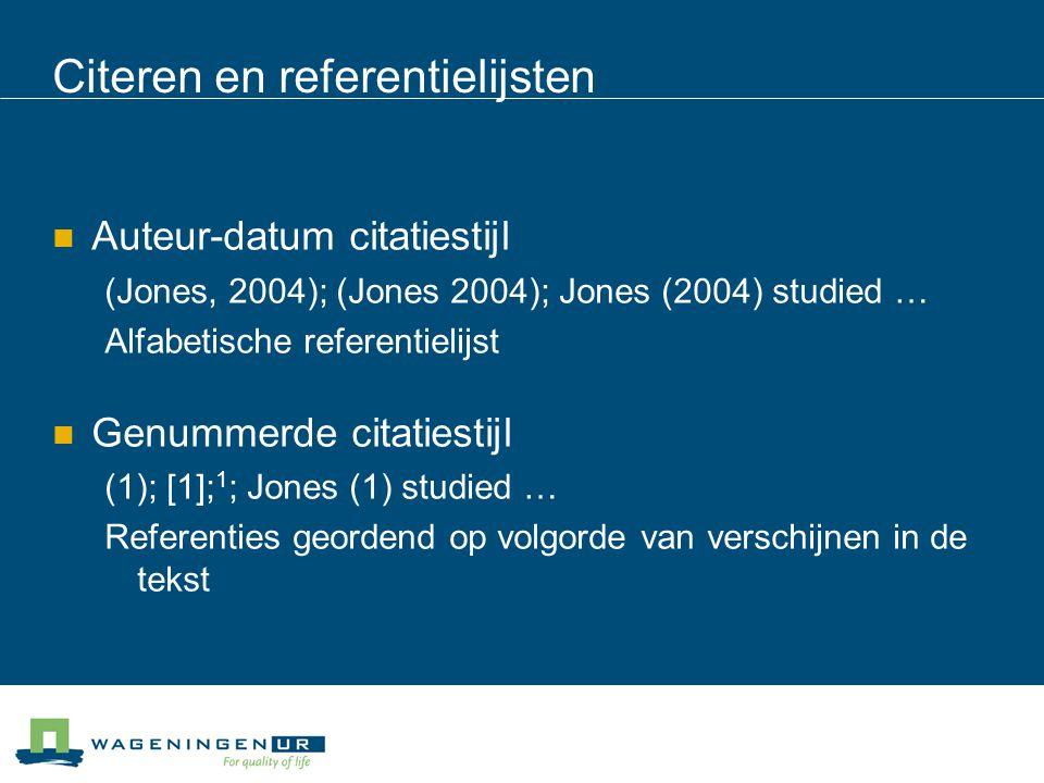 Citeren en referentielijsten
