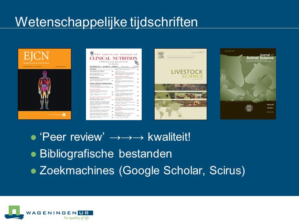 Wetenschappelijke tijdschriften