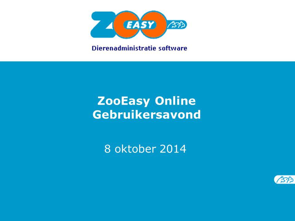 ZooEasy Online Gebruikersavond