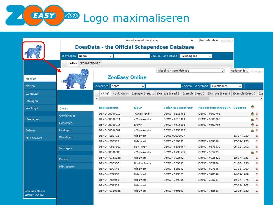 Logo maximaliseren