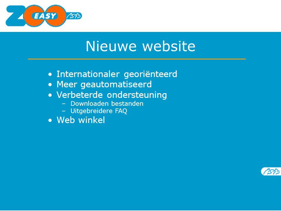 Nieuwe website Internationaler georiënteerd Meer geautomatiseerd