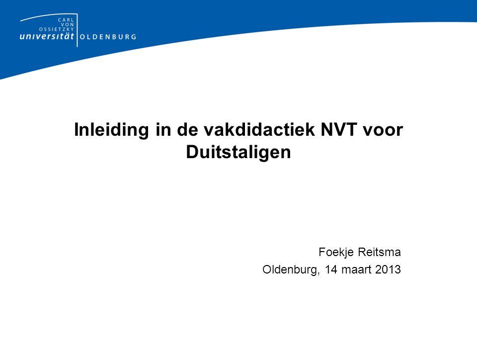 Inleiding in de vakdidactiek NVT voor Duitstaligen