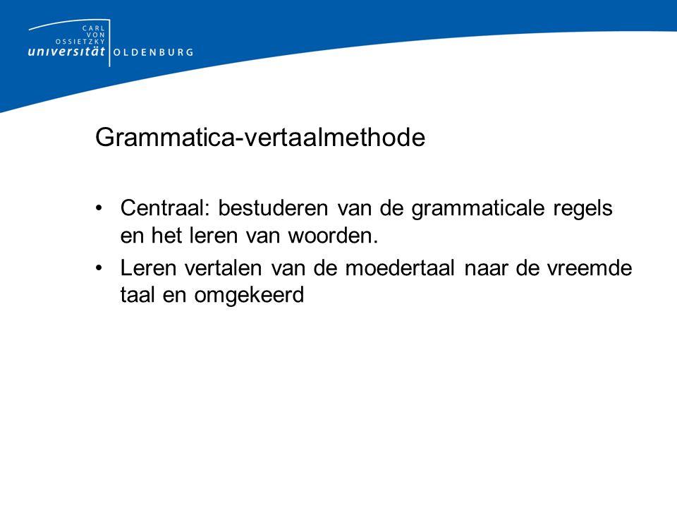 Grammatica-vertaalmethode