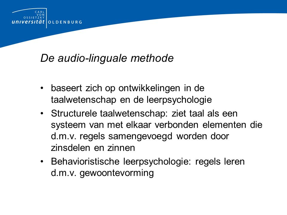 De audio-linguale methode
