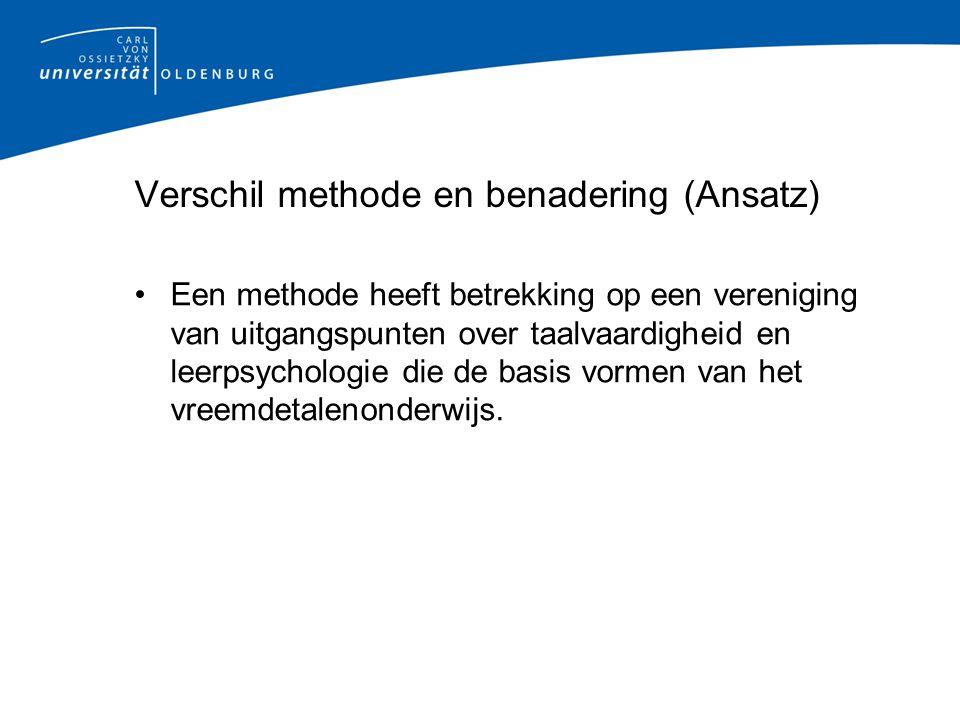 Verschil methode en benadering (Ansatz)