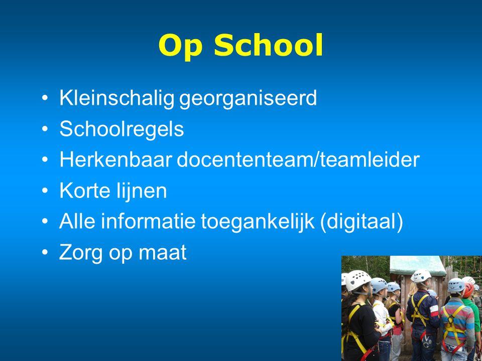 Op School Kleinschalig georganiseerd Schoolregels