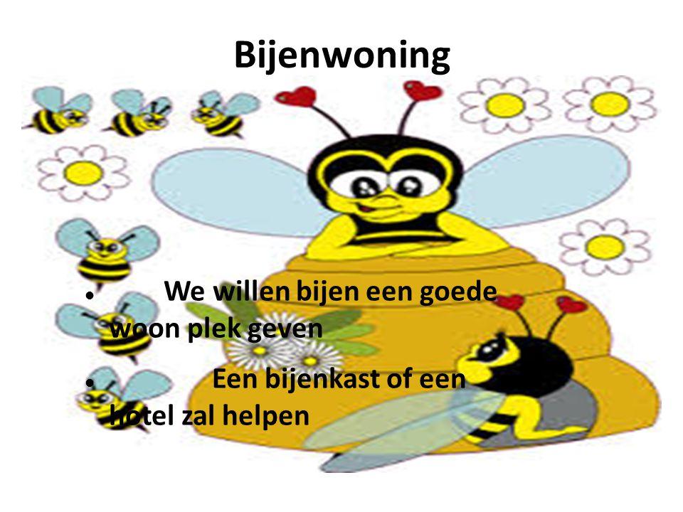 Bijenwoning We willen bijen een goede woon plek geven