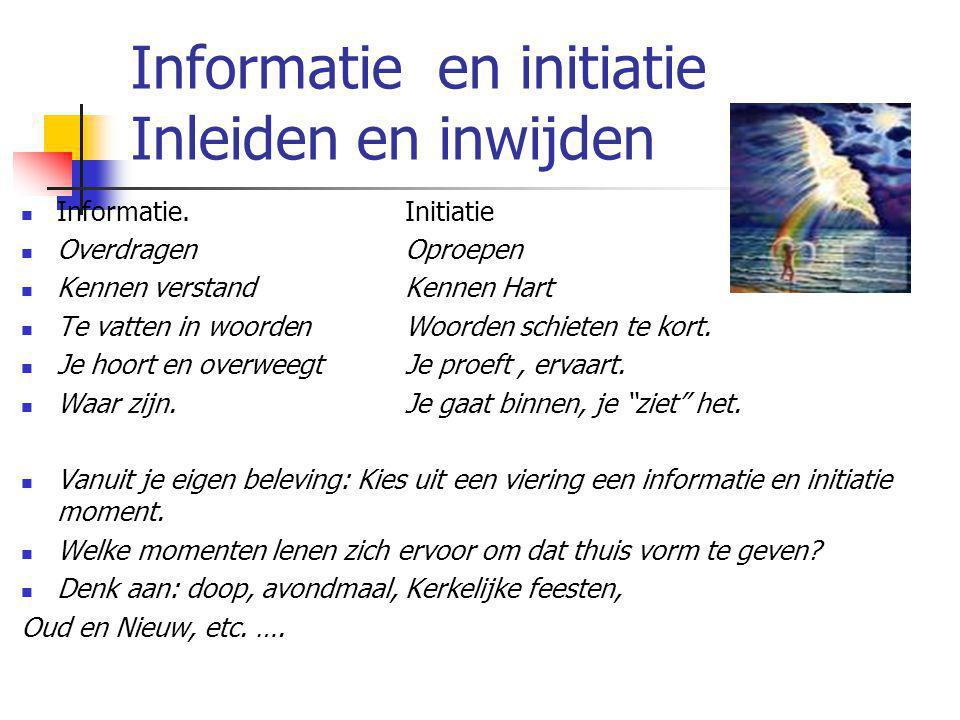 Informatie en initiatie Inleiden en inwijden