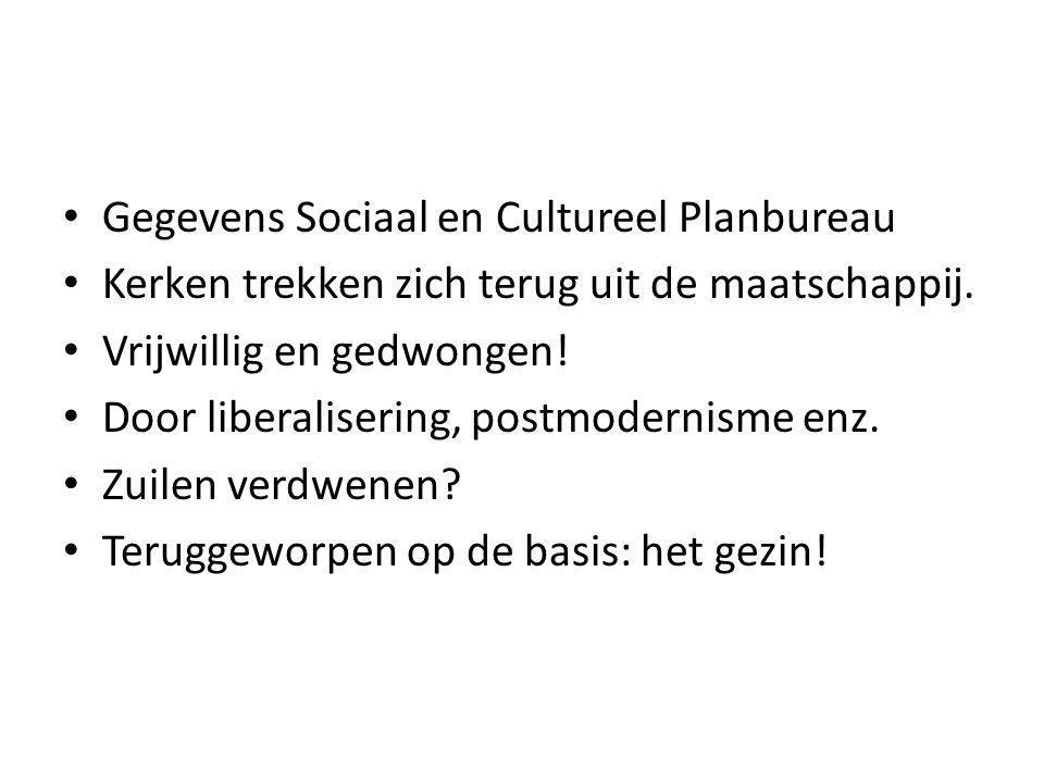 Gegevens Sociaal en Cultureel Planbureau