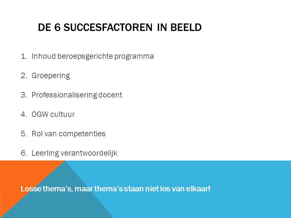 De 6 succesfactoren in beeld