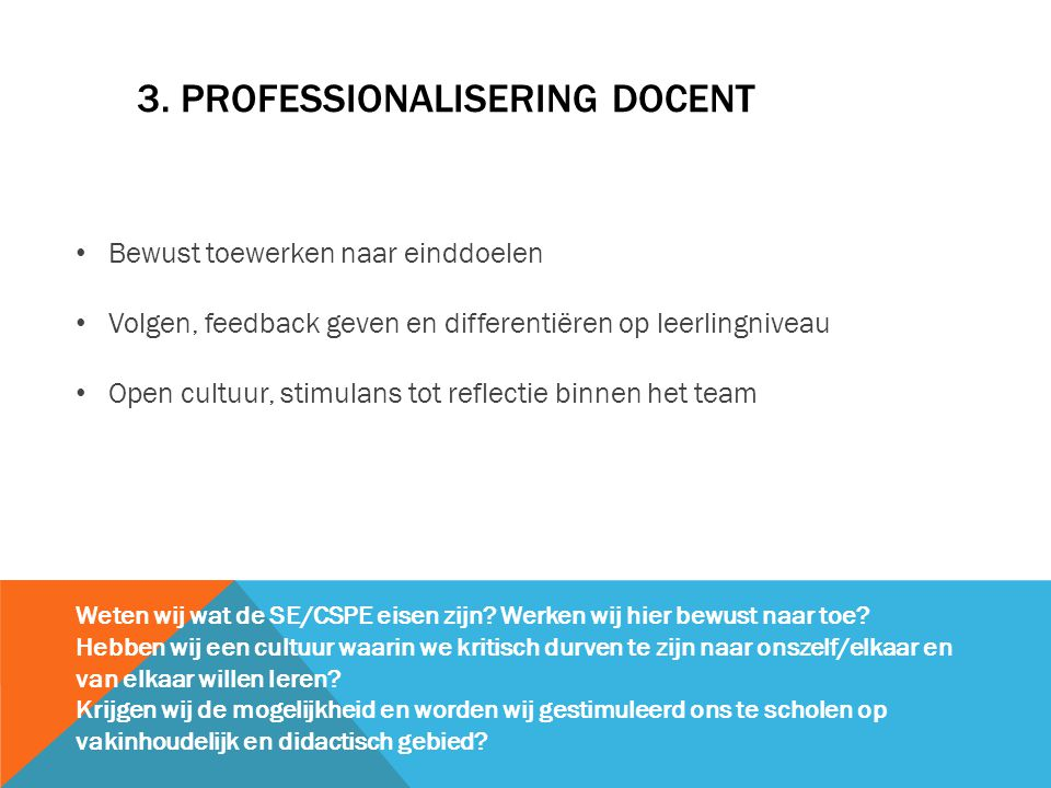 3. Professionalisering docent