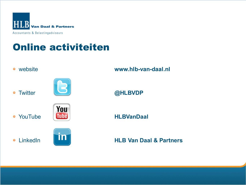 Online activiteiten website www.hlb-van-daal.nl Twitter @HLBVDP