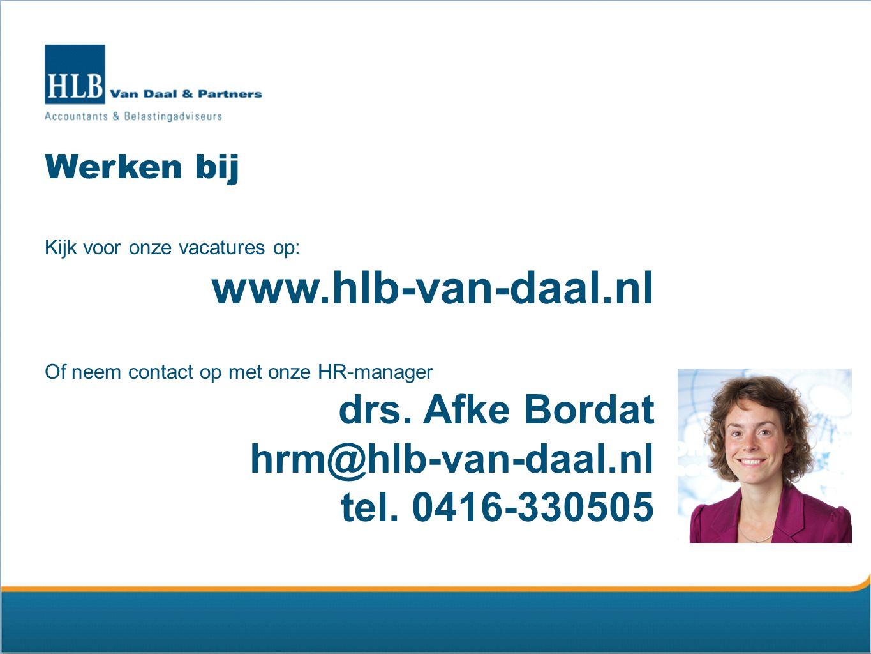 www.hlb-van-daal.nl drs. Afke Bordat hrm@hlb-van-daal.nl