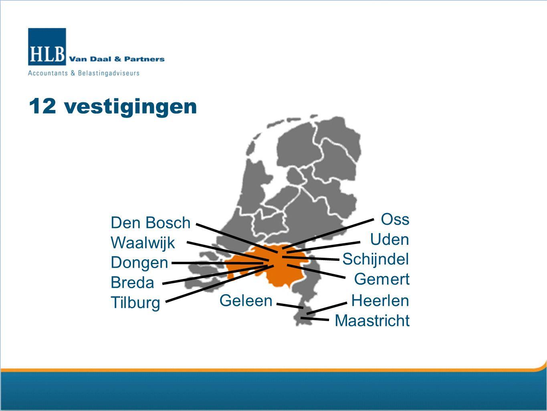 12 vestigingen Oss Den Bosch Uden Waalwijk Schijndel Dongen Gemert