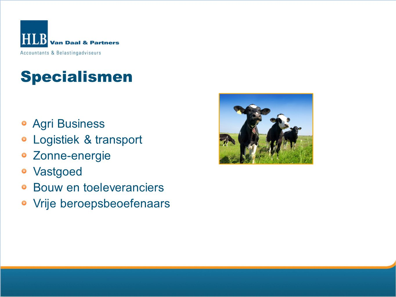 Specialismen Agri Business Logistiek & transport Zonne-energie